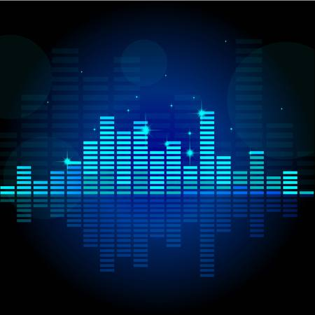 Abstract music equalizer  Vector illustration  Stock Vector - 30275334