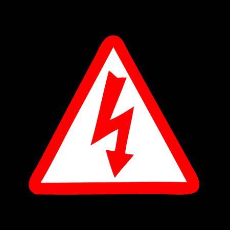 High Voltage Sign  イラスト・ベクター素材