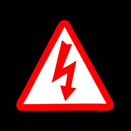 High Voltage Sign Standard-Bild - 30275357