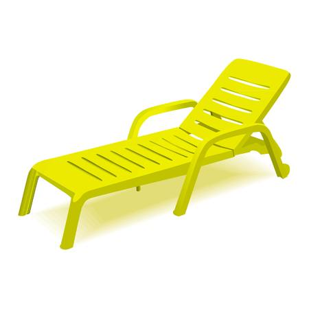 settee: Vector deck chair on white background