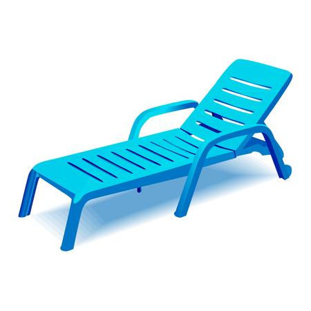 Vector deck chair on white background