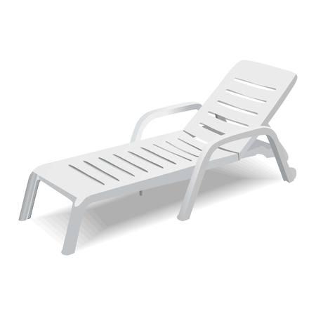 transat: Chaise vecteur de pont sur fond blanc