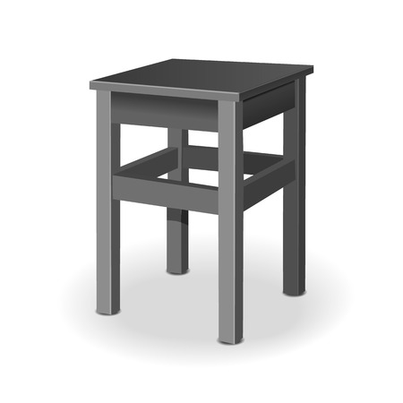 quot: The stool  vector illustration