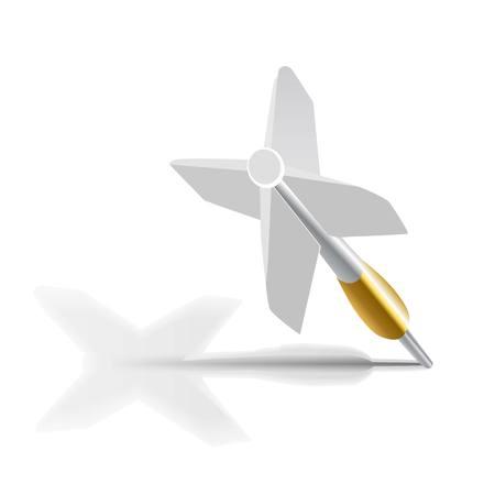 Weiß dart Standard-Bild - 30275849