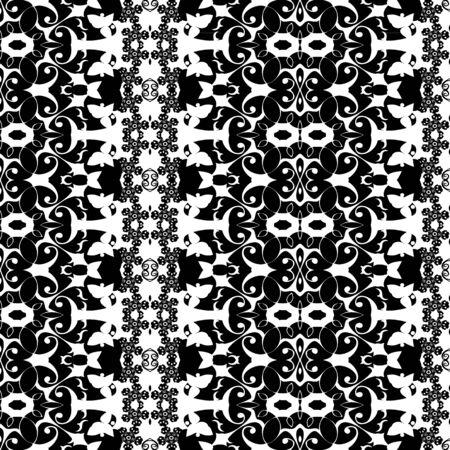 etnic: Black-and-white pattern vintage Illustration