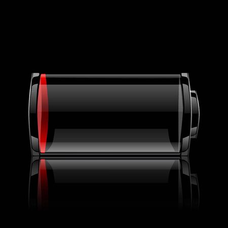 A discharged battery Vector