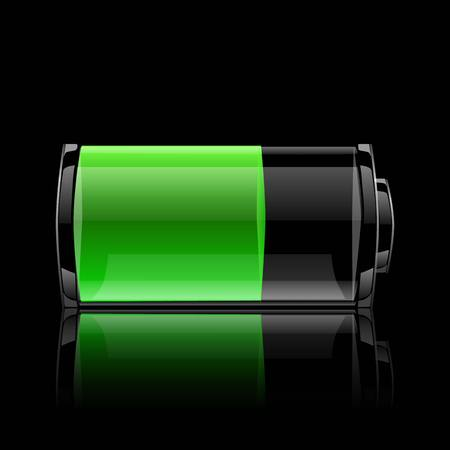 The battery indicator Vector
