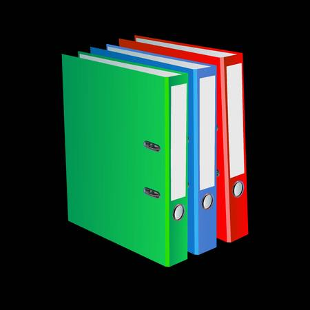 Office folder for documents Vector