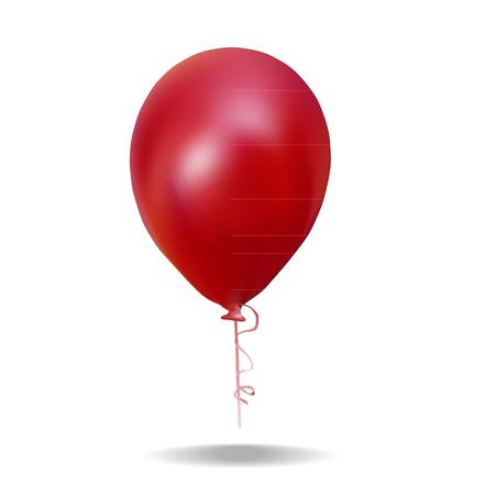 ed: ed balloon for Valentine s Day with a string isolated on whit