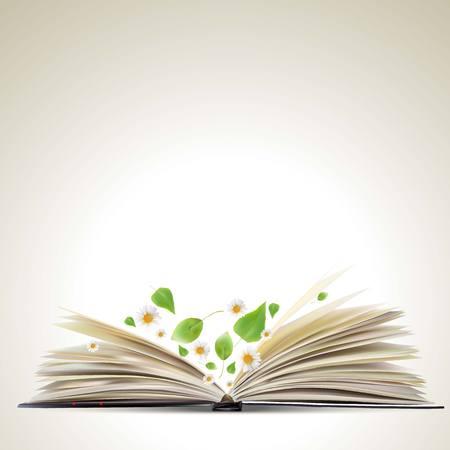 book concept: Open book Illustration