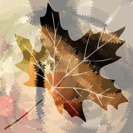 autumn bright vector maple leaf Vector