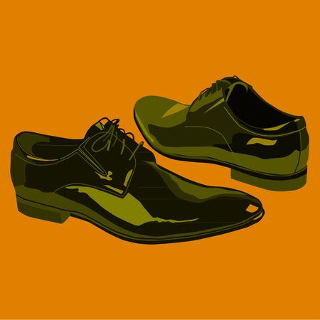 nobel: zapatos para hombres de negocios Vectores