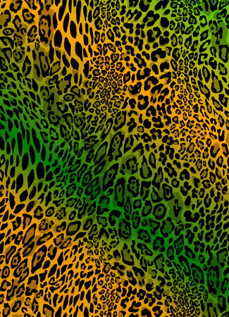 Seamless colorful textures of leopard