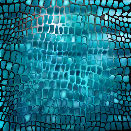 Nautical pattern inspired by tropical fish skin in aqua blue color. Texture for web, print, wallpaper, home decor, spring summer fashion fabric, textile, invitation or website background. Marine set. Vettoriali