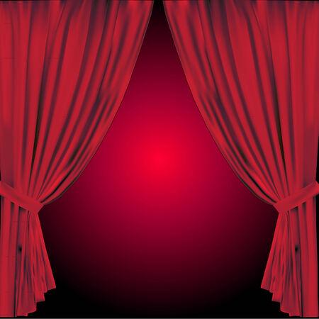sipario chiuso: tenda rossa