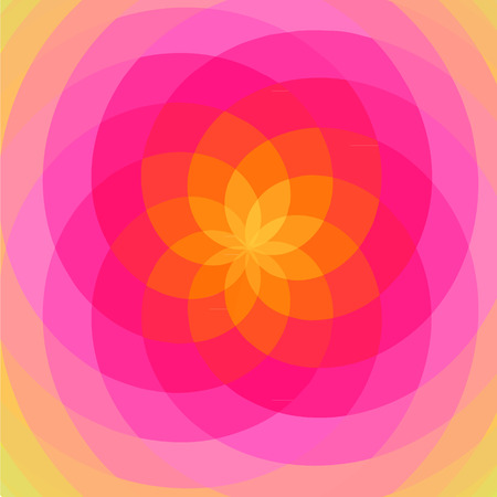 Floral spiral abstract. Pink and soft. Illustration