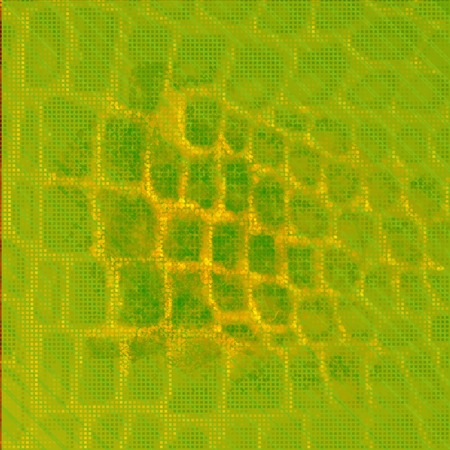 bumped: vector skin, bright yellowish-green, coarse texture sample