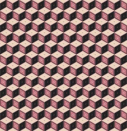 Retro pattern of geometric shapes. Vector