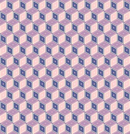 repeated: Retro pattern of geometric shapes.