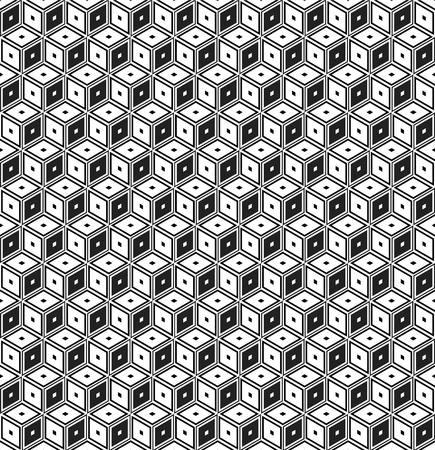parallelepiped: Retro pattern of geometric shapes.