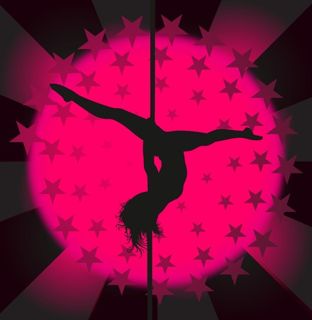Sexy pole dancer illustration Vector