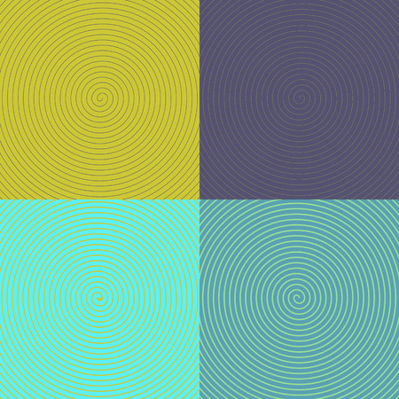 disappearing point: Optical Art. set of spirals.  Illustration