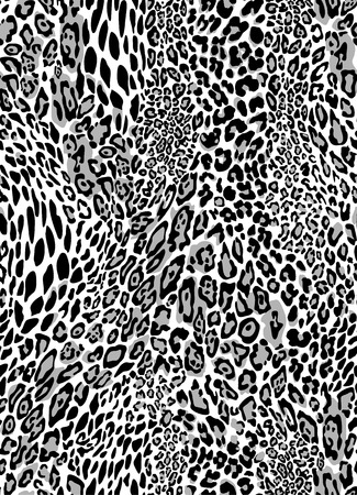 Seamless leopard pattern.  Vector