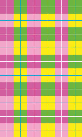 Colorful mosaic geometric background for your web design in pink tones, Multicolored checkered pattern on white as abstract background Vector