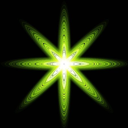Glossy Sphere. Abstract Background. glowing green sphere Vector