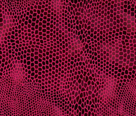 Seamless vector structured snake skin in red colors