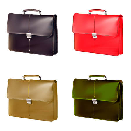 brief: different colours Brief case
