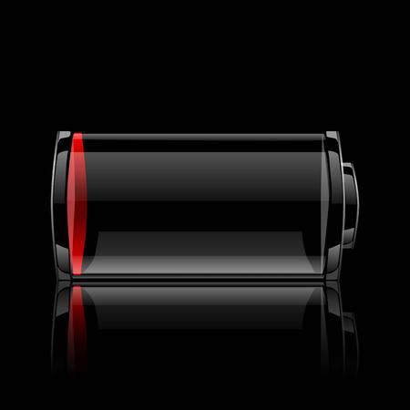 accuser: batterie web brillant ic�ne. illustration vectorielle.