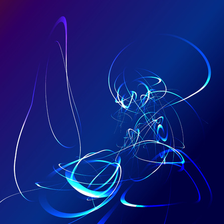 night vision: blue star flash abstract background.  Illustration