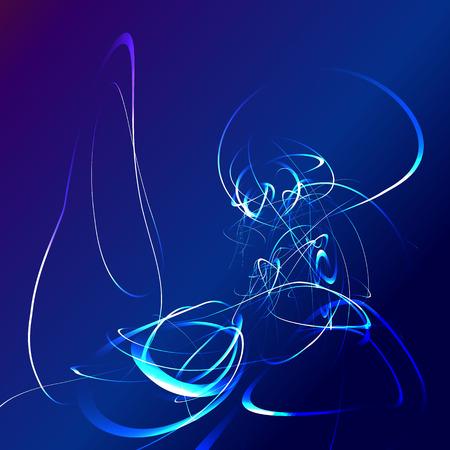 estrella azul: flash de la estrella azul de fondo abstracto.