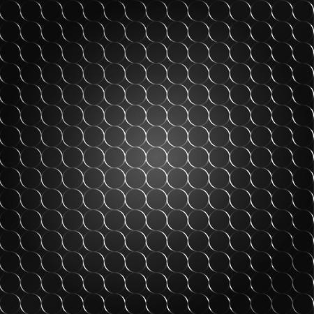 reticular: black pattern background.