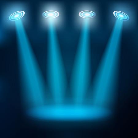 魔法光の抽象的な背景