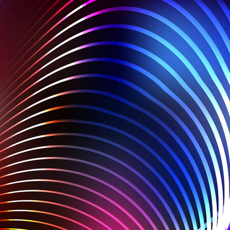 digitally generated image: digitally generated image of blue light and stripes moving fast over black background