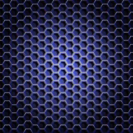 honeycombed: Realistic hexagonal grid background. Illustration