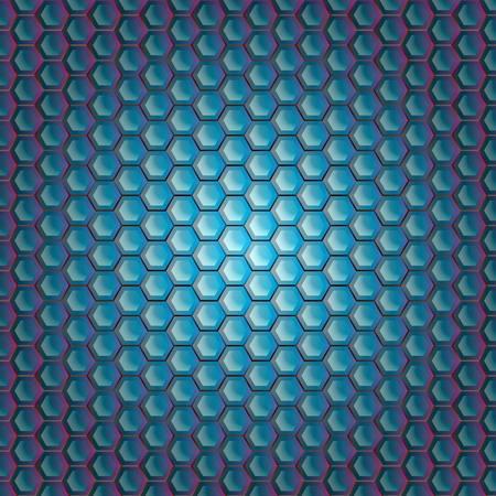 Realistic hexagonal grid background.  イラスト・ベクター素材