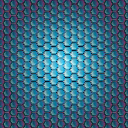 grating: Realistic hexagonal grid background. Illustration