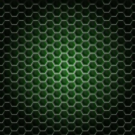 grid background: Realistic hexagonal grid background. Illustration