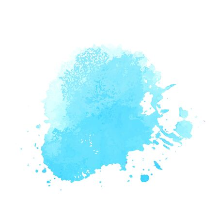 Bright blue watercolor vector Vector