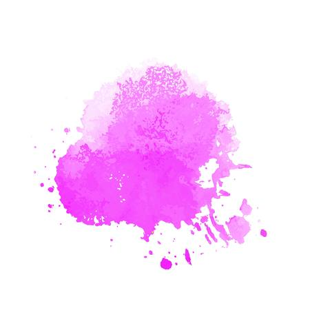 Abstract artistic element forming by blots Illustration