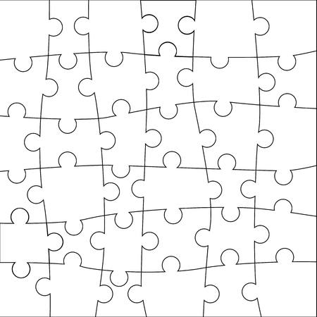 Puzzle template. Vector