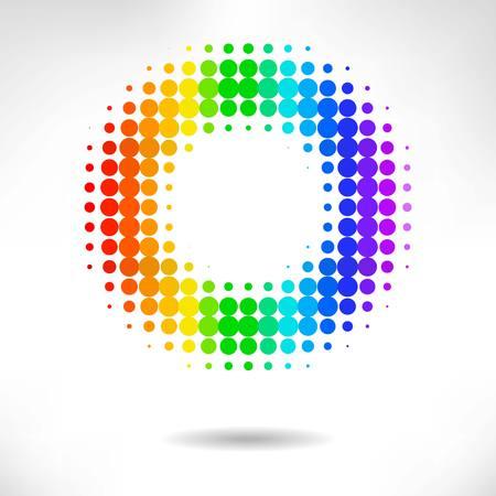 postscript: Vector color dot background