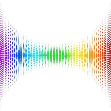 Equalizer digitaal. kleur vector illustratie.