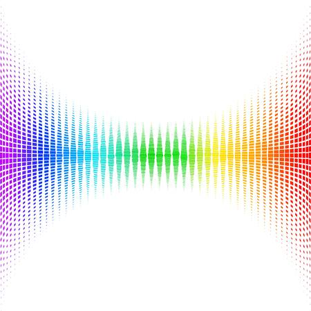 Equalizer digital. color vector illustration.  Vettoriali