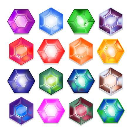色鮮やかな光沢のある宝石のベクトルを設定します。 写真素材 - 32781566