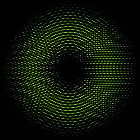 Green circle of halftone