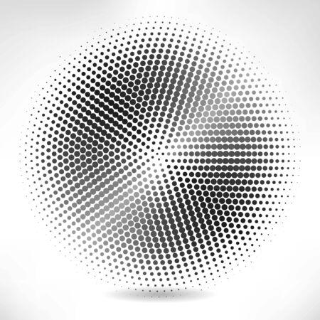 silver circle: Silver circle of halftone